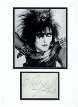 Siouxsie Sioux Autograph Signed Display - The Banshees